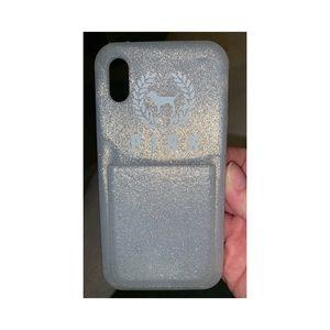 vs pink cardholder iphone x phone case